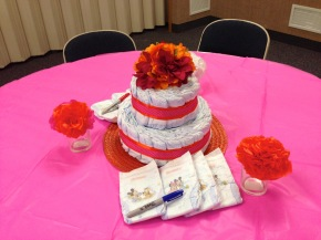 Baby Shower Pink and Orange