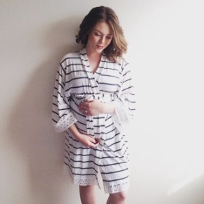 PinkBlush All in One Maternity, Delivery and Nursing Robe